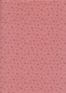 Ellie's Quiltplace - Modern Traditions Fireflies Coral Pink