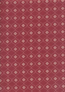 Ellie's Quiltplace - Past & Present Vintage Wallpaper Ruby Red