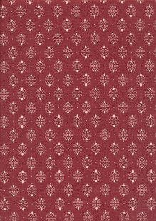 Ellie's Quiltplace - Past & Present Damask Ruby Red