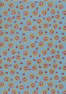 Ellie's Quiltplace - Remembering Tomorrow Wild RosesStone Blue