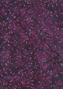 Extra Wide Bali Batik - Vines A19 Pink On Purple