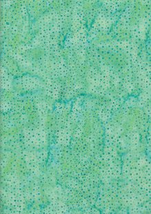 Extra Wide Bali Batik - Raindrop A19 Green On Turquoise
