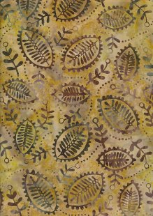 Fabric Freedom Bali Batik - Yellow15-121I