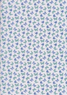 Fabric Freedom - Butterflies & Birds Collection FF244-2 IVORY