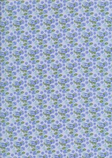 Fabric Freedom - Butterflies & Birds Collection FF246-2 BLUE