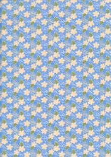 Fabric Freedom - Butterflies & Birds Collection FF243-3 BLUE