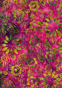 Fabric Freedom Bali Batik Stamp - Pink 157/f