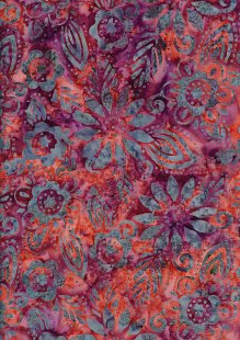 Fabric Freedom Bali Batik Stamp - Pink 157/h