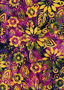 Fabric Freedom Bali Batik Stamp - Purple 157/b