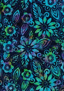 Fabric Freedom Bali Batik Stamp - Blue 157/c
