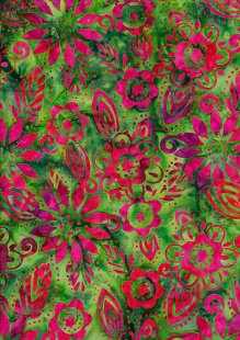 Fabric Freedom Bali Batik Stamp - Green 157/d
