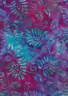Fabric Freedom Bali Batik Stamp - Batik Stamp  - Purple 147/B