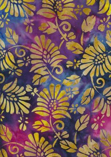 Fabric Freedom Bali Batik Stamp - Batik Stamp  - Purple 147/C