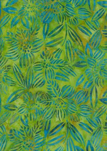 Fabric Freedom Bali Batik Stamp - Batik Stamp  - Green 144/E