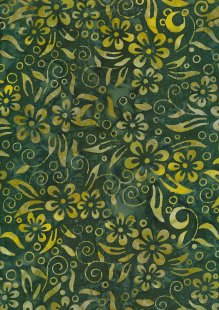 Fabric Freedom Bali Batik Stamp - Batik Stamp  - Green 142/J