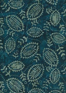 Fabric Freedom Bali Batik Stamp - Batik Stamp  - Green 136/E