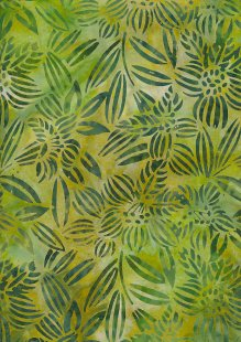Fabric Freedom Bali Batik Stamp - Batik Stamp  - Green 144/B