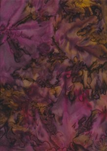 Fabric Freedom Bali Batik Stamp - Batik Tie Die  - Purple 131/E