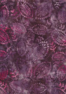 Fabric Freedom Bali Batik Stamp - Batik Stamp  - Purple 136/H