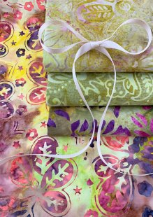 Fabric Freedom Bali Batik Stamp - 4 x Fat 1/4 Pack 6