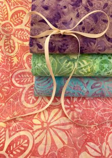 Fabric Freedom Bali Batik Stamp - 4 x Fat 1/4 Pack 9