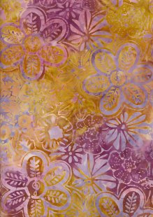 Fabric Freedom Bali Batik Stamp - BK 406/J Yellow