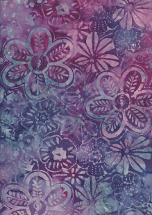 Fabric Freedom Bali Batik Stamp - BK 406/C Purple