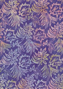 Fabric Freedom Bali Batik Stamp - BK 403/I Purple