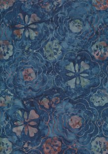 Fabric Freedom Bali Batik Stamp - BK 414/B Blue