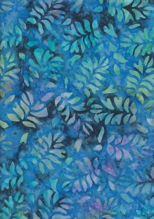Fabric Freedom Bali Batik Stamp - BK 423/B Blue