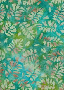 Fabric Freedom Bali Batik Stamp - BK 423/J Green