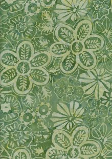Fabric Freedom Bali Batik Stamp - BK 406/C Green