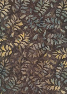 Fabric Freedom Bali Batik Stamp - BK 423/D Brown