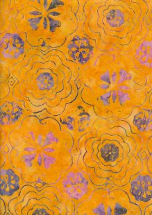 Fabric Freedom Bali Batik Stamp - BK 414/G Yellow