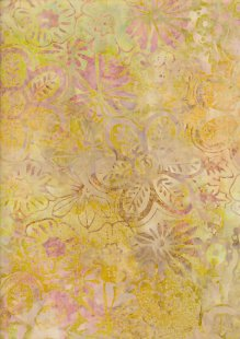 Fabric Freedom Bali Batik Stamp - BK 406/H Yellow