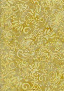 Fabric Freedom Bali Batik Stamp - BK 409/I Yellow