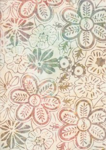 Fabric Freedom Bali Batik Stamp - BK 406/E Cream