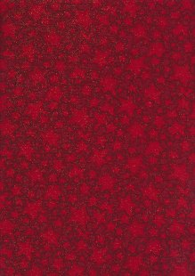 Fabric Freedom Traditional Gilded Christmas - Stars FF504-3 Red