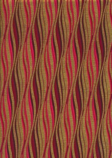 Fabric Freedom Traditional Gilded Christmas - Waves FF505-3 Red