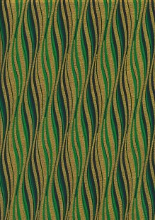 Fabric Freedom Traditional Gilded Christmas - Waves FF505-1 Green