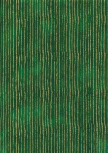 Fabric Freedom Traditional Gilded Christmas - Lines FF513-2 Green