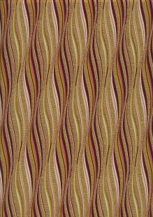 Fabric Freedom Traditional Gilded Christmas - Waves FF505-2 Gold