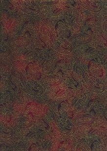 Fabric Freedom Traditional Gilded Christmas - Paisley FF511-1 Burgundy