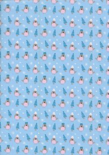 Fabric Freedom Winter Warmer - Robins & Trees FF209-1 Blue