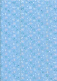 Fabric Freedom Winter Warmer - Snowflakes FF208-1 Blue
