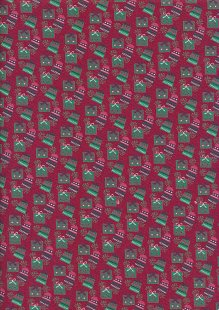 Fabric Freedom Winter Warmer - Presents FF207-2 Red