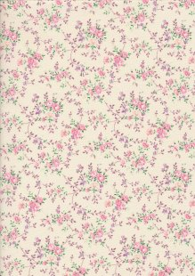 Fabric Freedom Daydream - Ditsy Floral Sprig On Buttermilk