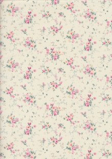 Fabric Freedom Daydream - Ditsy Floral Sprig On Cream