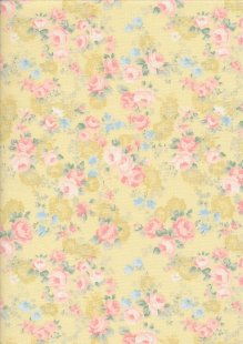 Fabric Freedom Daydream - Rose On Yellow