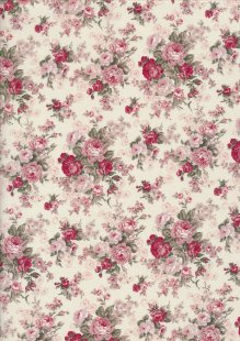 Fabric Freedom Daydream - Rose On Cream